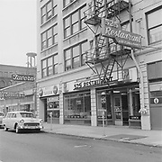 """Y-570912A-08. """"Hoyt Hotel. Tavern and Restaurant. Walter Sweak. September 12, 1957"""" (Hoyt Tavern, Five-Two-Five Cafe Restaurant. NW 6th)"""