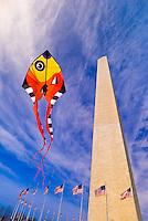 Smithsonian Kite Festival, Washington Monument, Washington D.C., U.S.A.