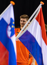 11-04-2019 NED: Netherlands - Slovenia, Almere<br /> Third match 2020 men European Championship Qualifiers in Topsportcentrum in Almere. Slovenia win 26-27 / Toon Leenders #7 of Netherlands