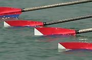 2003 - FISA World Cup Rowing Milan Italy.30/05/2003  - Photo Peter Spurrier.USA W4X (B) Hilary Gehman, Laurel Korholz, Sarah Jones and Danika Harris. Equipment [Mandatory Credit: Peter Spurrier:Intersport Images]