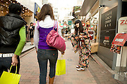 young girls shopping in the Shibuya district of Tokyo
