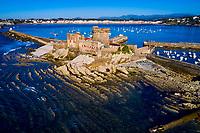 France, Pyrénées-Atlantiques (64), Pays Basque, Ciboure, le Fort de Socoa édifié sous le régne de Louis XIII en 1636 // France, Pyrénées-Atlantiques (64), Basque Country, Ciboure, the Fort de Socoa built under the reign of Louis XIII in 1636