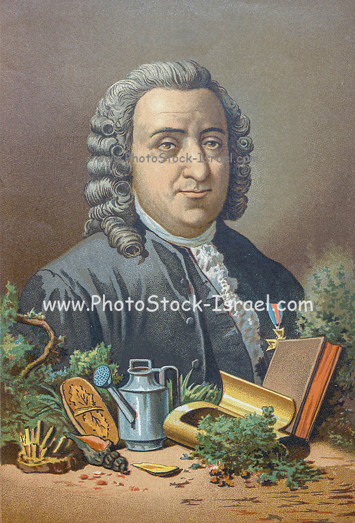"""Carl Linnaeus [Linneo] Carl Linnaeus (23 May 1707 – 10 January 1778), also known after his ennoblement as Carl von Linné. was a Swedish botanist, zoologist, and physician who formalised binomial nomenclature, the modern system of naming organisms. He is known as the """"father of modern taxonomy"""". Many of his writings were in Latin, and his name is rendered in Latin as Carolus Linnæus (Later as Carolus A Linné). From the book La ciencia y sus hombres : vidas de los sabios ilustres desde la antigüedad hasta el siglo XIX T. 3  [Science and its men: lives of the illustrious sages from antiquity to the 19th century Vol 3] By by Figuier, Louis, (1819-1894); Casabó y Pagés, Pelegrín, n. 1831 Published in Barcelona by D. Jaime Seix, editor , 1879 (Imprenta de Baseda y Giró)"""