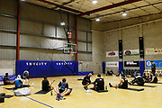 Yoga session, Breakers NBL basketball training and media session, Breakers Gym, Auckland. 17 October 2018. Copyright Image: William Booth / www.photosport.nz