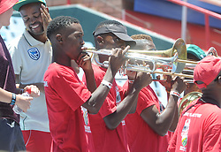 Pretoria 26-12-18. The 1st of three 5 day cricket Tests, South Africa vs Pakistan at SuperSport Park, Centurion. Day 1. A brass band strike up a note a few minutes before lunch<br /> Picture: Karen Sandison/African News Agency(ANA)