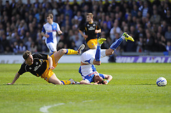Bristol Rovers' Kaid Mohamed is fouled - Photo mandatory by-line: Joe Meredith/JMP - Mobile: 07966 386802 03/05/2014 - SPORT - FOOTBALL - Bristol - Memorial Stadium - Bristol Rovers v Mansfield - Sky Bet League Two