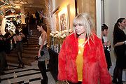 AMBER LE BON; JO WOOD, Unveiling of the Dior Christmas Tree by John Galliano at Claridge's. London. 1 December 2009
