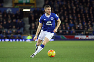 Tom Cleverley of Everton in action. Barclays Premier League match, Everton v Newcastle United at Goodison Park in Liverpool on Wednesday 3rd February 2016.<br /> pic by Chris Stading, Andrew Orchard sports photography.