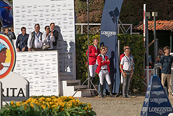 Team Belgium, Verlooy Jos, Bruynseels Niels, Devos Pieter, Vermeir Wilm<br /> Longines FEI Jumping Nations Cup™ Final<br /> Barcelona 20128<br /> © Hippo Foto - Dirk Caremans<br /> 07/10/2018