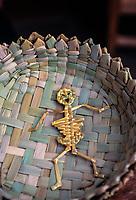 Toy skeleton, Day of the Dead, Patzcuaro, Michoacan, Mexico