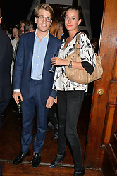 LOUIS d'ORIGNY and AMBRE BERNARD at a party to celebrate opening of Galerie Kreo in London held at Il Bottaccio, Grosvenor Place, London on 17th September 2014.