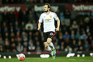 Daley Blind of Manchester United in action. The Emirates FA cup, 6th round replay match, West Ham Utd v Manchester Utd at the Boleyn Ground, Upton Park  in London on Wednesday 13th April 2016.<br /> pic by John Patrick Fletcher, Andrew Orchard sports photography.