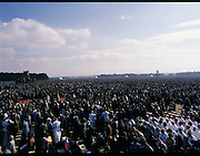 Pope John-Paul II visits Ireland..1979..29.09.1979..09.29.1979..29th September 1979..Today marked the historic arrival of Pope John-Paul II to Ireland. He is here on a three day visit to the country with a packed itinerary. He will celebrate mass today at a specially built altar in the Phoenix Park in Dublin. From Dublin he will travel to Drogheda by cavalcade. On the 30th he will host a youth rally in Galway and on the 1st Oct he will host a mass in Limerick prior to his departure from Shannon Airport to the U.S..An Image taken of the massive congregation,estimated at 1.25million who attended the mass in the Phoenix Park.