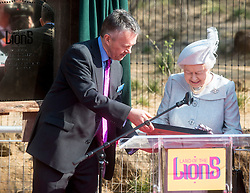 HM The Queen and HRH The Duke of Edinburgh open the ZSL London Zoo's new exhibit,<br /> Land of the Lions, on 17th march 2016, HM The Queen. EXPA Pictures © 2016, PhotoCredit: EXPA/ Photoshot/ Brian Jordan<br /> <br /> *****ATTENTION - for AUT, SLO, CRO, SRB, BIH, MAZ, SUI only*****