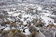 Early season snow on a neighborhood near Green Bay, Wisconsin.