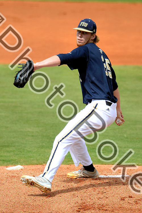 2014 May 10 - FIU's Cody Crouse (35). Florida International University fell to Middle Tennessee, 6-9, at the FIU Baseball Stadium, Miami, Florida. (Photo by: Alex J. Hernandez / photobokeh.com) This image is copyright by PhotoBokeh.com and may not be reproduced or retransmitted without express written consent of PhotoBokeh.com. ©2014 PhotoBokeh.com - All Rights Reserved