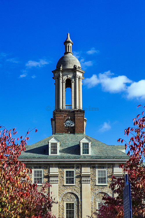 Old Main building on the campus of Penn State University, State College, Pennsylvania, USA.