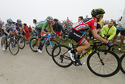September 12, 2018 - Balcon De Bizkaia, SPAIN - Spanish Miguel Angel Lopez of Astana Pro Team, Spanish Enric Mas of Quick-Step Floors, Britain's Adam Yates of Mitchelton - Scott and Britain's Simon Yates of Mitchelton - Scott pictured in action during the 17th stage of the 'Vuelta a Espana', Tour of Spain cycling race, 157km from Getxo to Balcon de Bizkaia, Spain, Wednesday 12 September 2018. ..BELGA PHOTO YUZURU SUNADA FRANCE OUT. (Credit Image: © Yuzuru Sunada/Belga via ZUMA Press)