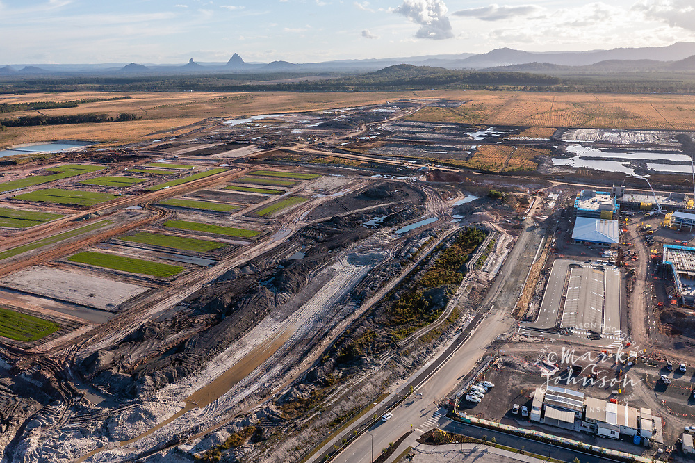Aura, Caloundra, Australia-13 July 2021: Construction on Aura, a planned city, Caloundra, Sunshine Coast, Queensland, Austraila