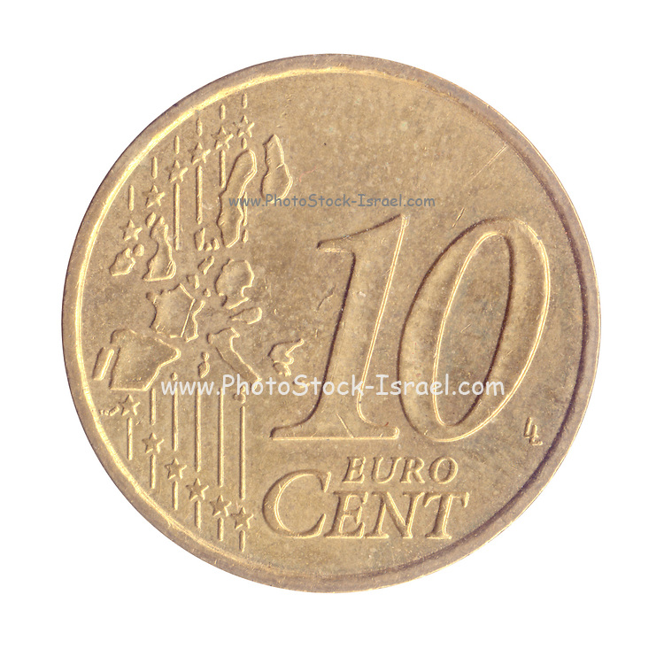 10 Euro Cents Nordic gold coin (France)