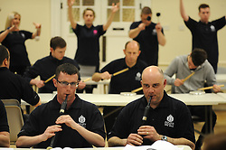 Fife Police Pipe Band rehearsal. The band has been invited to attend at the Virginia International Tattoo later this month. It is one of the top ranked Police Pipe Bands in the world, and regularly competes in major championships.