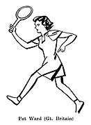 Sorry, No Croquet ; Wimbledon tennis<br /> Pat Ward ( Great Britain )