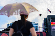 Rony Gomes during Skate Big Air Finals at 2019 X Games Shanghai in Shanghai, China. ©Brett Wilhelm/ESPN