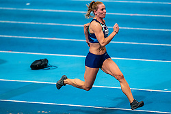 Nadine Broersen in action on long jump during the Dutch Athletics Championships on 14 February 2021 in Apeldoorn