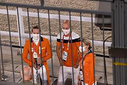 Team Netherlands, Minderhoud Hans Peter, Gal Edward, Van Baalen Marlies<br /> Olympic Games Tokyo 2021<br /> © Hippo Foto - Dirk Caremans<br /> 27/07/2021