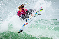Caroline Marks (USA) placed 2nd in Heat 3 of Round 2 at the  Quiksilver and Roxy Pro France 2018