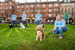 Founder Louise Russell (right), with her dog Cooper, with members of her team Wendy Hood, Julie-Anne Anderson-Mckinlay and Linsay Macphail, at The Give A Dog A Bone charity in Shawlands.