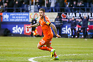 Goal 3-0 Luton Town midfielder George Moncur celebrates scoring his second and Luton's third goal during the EFL Sky Bet League 1 match between Luton Town and Wycombe Wanderers at Kenilworth Road, Luton, England on 9 February 2019.