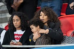 EXCLUSIVE: Karim Benzema's wife and son attend PSG vs Real de Madrid at Parc des Princes in Paris on september 18, 2019.<br /> Merci de cacher le visage des enfants avant la publication. Please hide the children's faces prior to the publication.