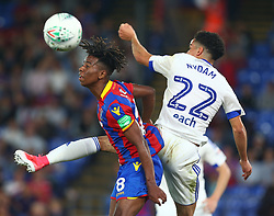 August 22, 2017 - London, England, United Kingdom - Crystal Palace's Jason Lokilo beats Ipswich Town's Tristan Nydam.during Carabao Cup 2nd Round   match between Crystal Palace and Ipswich Town at Selhurst Park Stadium, London,  England on 22 August 2017. (Credit Image: © Kieran Galvin/NurPhoto via ZUMA Press)