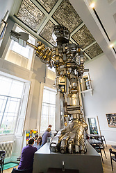 Vulcan sculpture by Eduardo Paolozzi on display at Scottish National Gallery of Modern Art in Edinburgh, Scotland, United Kingdom
