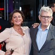 NLD/Utrecht/20151002 - NFF 2015, Gouden Kalveren inloop, Annet Malherbe en partner Alex van Warmerdam