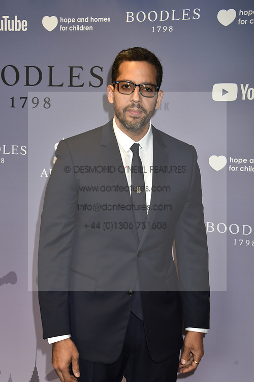 David Blaine at the Boodles Boxing Ball, in association with Argentex and YouTube in Support of Hope and Homes for Children at Old Billingsgate London, United Kingdom - 7 Jun 2019 Photo Dominic O'Neil