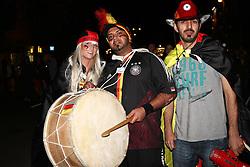 23.06.2010, Leopoldstrasse Schwabing, Muenchen, GER, FIFA Worldcup, Fanfeier nach Ghana vs Deutschland,  im Bild Fans mit Trommel , EXPA Pictures © 2010, PhotoCredit: EXPA/ nph/  Straubmeier / SPORTIDA PHOTO AGENCY