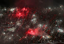 10.12.2014, River Plate Stadium, Buenos Aires, ARG, Südamerika Cup 2014, River Plate vs Atletico Nacional de Medellin, im Bild River Plate fans celebrate the tryumph of the team // during the 2nd final match of Southamerican Cup between River Plate vs Atletico Nacional and Medellin at the River Plate Stadium in Buenos Aires, Argentina on 2014/12/10. EXPA Pictures © 2014, PhotoCredit: EXPA/ Eibner-Pressefoto/ Cezaro<br /> <br /> *****ATTENTION - OUT of GER*****