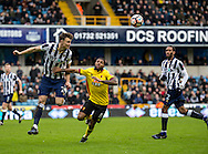 Jake Cooper of Millwall and Jerome Sinclair of Watford during the FA Cup match at The Den, London<br /> Picture by Liam McAvoy/Focus Images Ltd 07413 543156<br /> 29/01/2017
