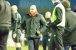Forfar Athletic's manager Gary Bollan after Josh Peters scored their third goal. Cowdenbeath 3 v 4 Forfar Athletic, Scottish Football League Division Two game played 17/12/2016 at Central Park.