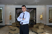 Skolkovo, Russia, 15/03/2011..Russian billionaire businessman Mikhail Prokhorov at his home in Skolkovo outside Moscow.