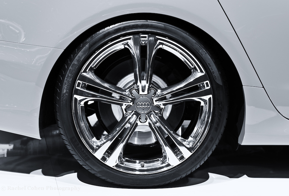 """""""Audi S4 Wheel""""- Mono<br /> <br /> Beautiful stylish and classy!! The Audi S4 wheel in a wonderful monochrome image!!<br /> <br /> Cars and their Details by Rachel Cohen"""