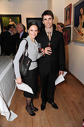 Dancers IOHNA LOOTS and RICARDO CERVERAat a private view of artist Georgina Barclay's work entitled 'Loves & Curiosities' held at the Air Gallery, Dover Street, London on 17th November 2009