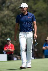 November 15, 2018 - Sydney, NSW, U.S. - SYDNEY, AUSTRALIA - NOVEMBER 15: Takumi Kanaya (a) (JPN) putting at Day 1 of The Emirates Australian Open Golf on November 15, 2019, at The Lakes Golf Club in Sydney, Australia. (Photo by Speed Media/Icon Sportswire) (Credit Image: © Speed Media/Icon SMI via ZUMA Press)
