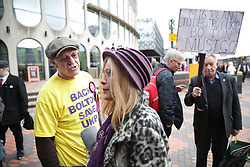 © Licensed to London News Pictures . 17/02/2018. Birmingham, UK. The NEC of UKIP meet to decide leader Henry Bolton's fate as leader following a racism row over his girlfriend Jo Marney and controversy over his claimed qualifications whilst serving in the military . Photo credit: Joel Goodman/LNP