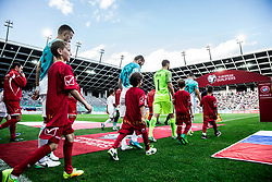Antonio Delamea-Mlinar of Slovenia, Nejc Skubic of Slovenia, Jan Oblak of Slovenia and Bojan Jokic of Slovenia coming to pitch during football match between National teams of Slovenia and Malta in Round #6 of FIFA World Cup Russia 2018 qualifications in Group F, on June 10, 2017 in SRC Stozice, Ljubljana, Slovenia. Photo by Vid Ponikvar / Sportida
