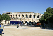 Nimes, Languedoc-Roussillon, France The ancient amphitheater