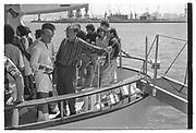 BARRY DILLER,, LACHLAN MURDOCH, RUPERT MURDOCH, , Party in the harbour on Rupert Murdoch's yacht.  Forbes weekend, TANGIER 1989