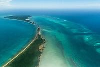 Aerial view of Quifuki Island, Quirimbas, Mozambique